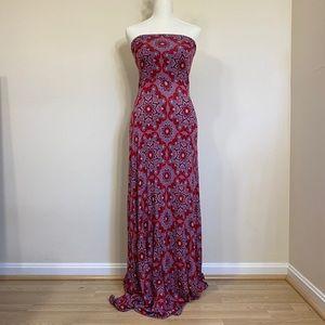 Strapless convertible maxi dress / skirt